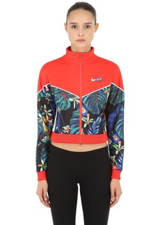 Nike Floral Cropped Track Jacket