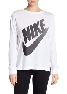 Nike Front Logo Long Sleeve Tee