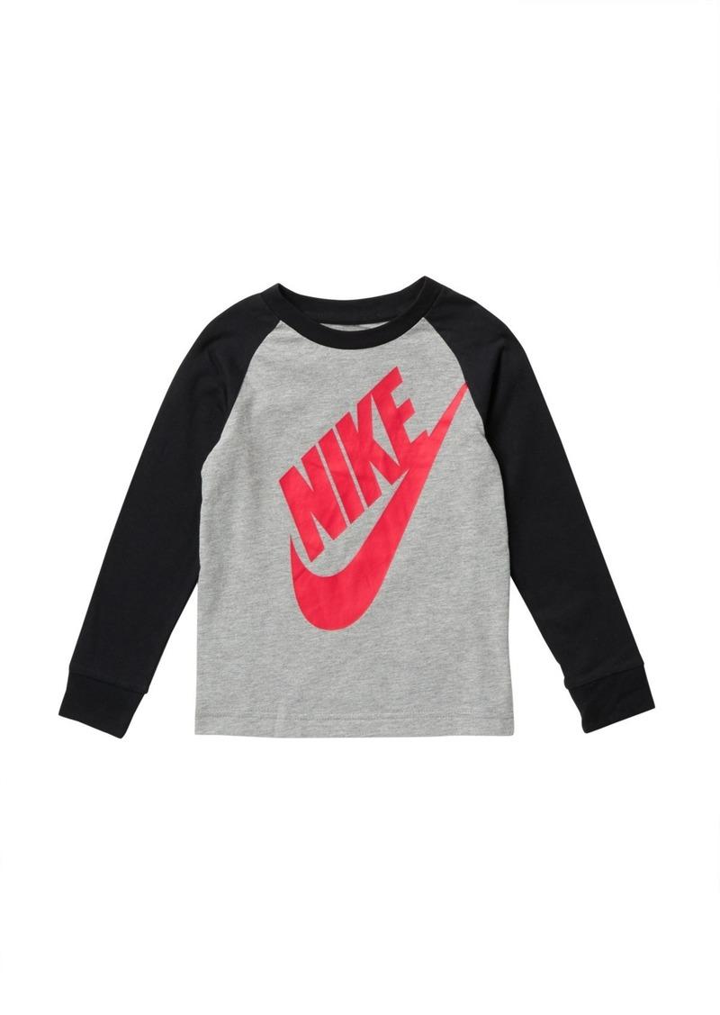 Nike Futura Long Sleeve Raglan T-Shirt (Little Boys)