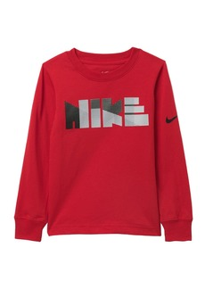 Nike Geo Block Print Long Sleeve Tee (Little Boys)