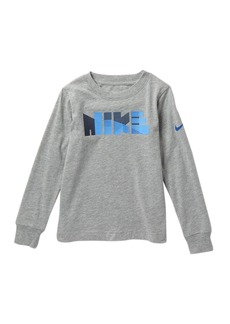 Nike Geo Block Print Long Sleeve Tee (Toddler Boys)
