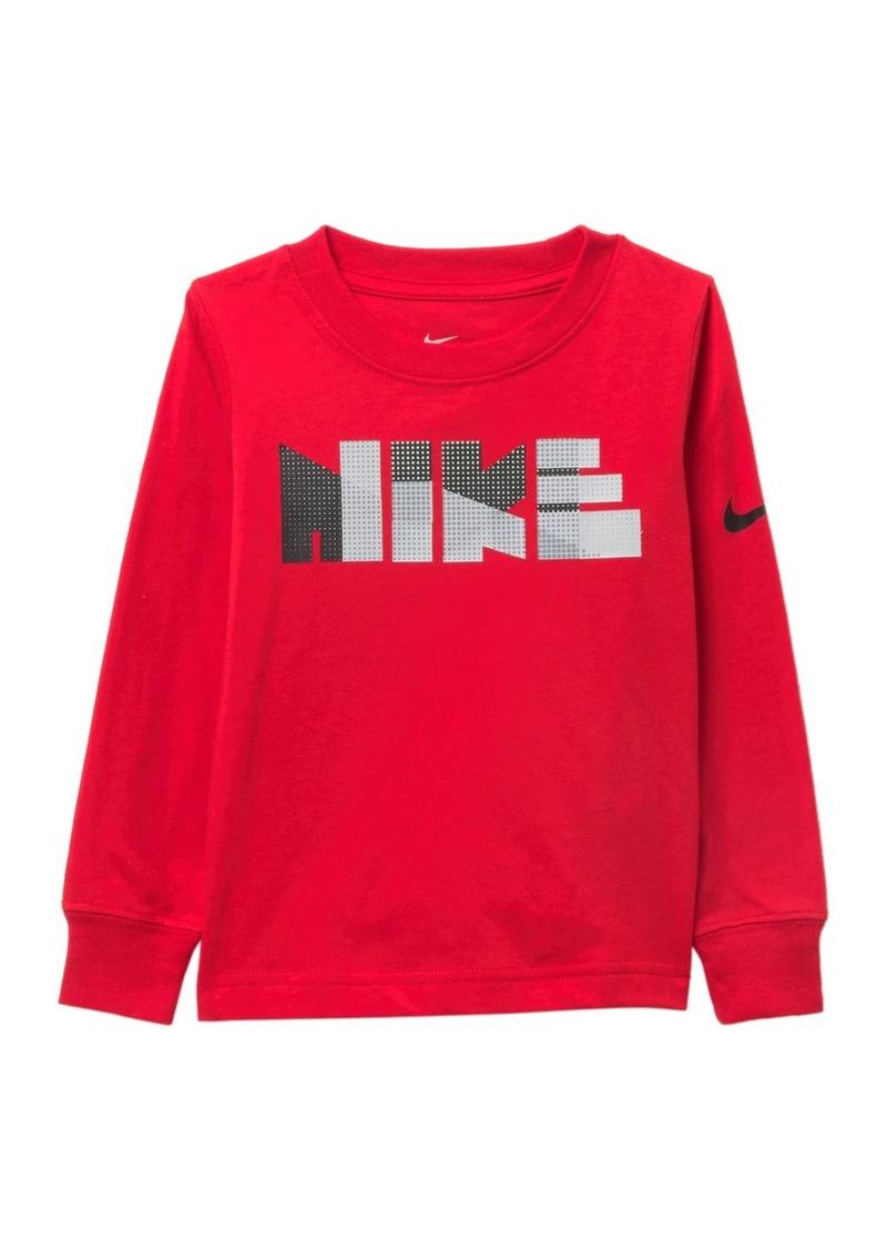 Nike Geo Block Print Long Sleeve Tee (Toddler Boys)