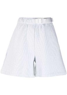 Nike geometric knit-fleece track shorts
