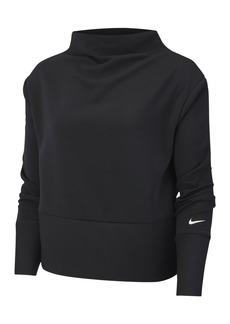 Nike Get Fit Fleece Mock Neck Top