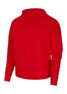 Nike Get Fit Fleece Mock Neck Top