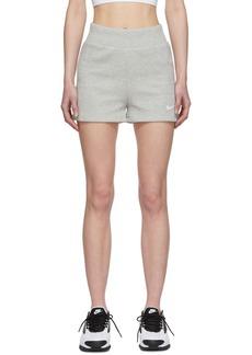 Nike Grey Ribbed Shorts