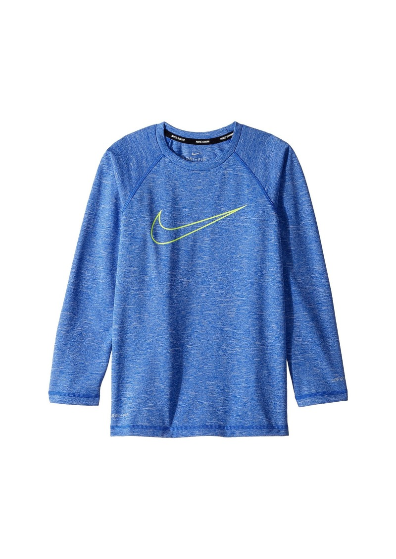 e1222fc6 Nike Heather Swoosh Long Sleeve Hydroguard (Big Kids) | Swimwear