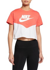Nike Heritage Colorblock Cropped Active Top