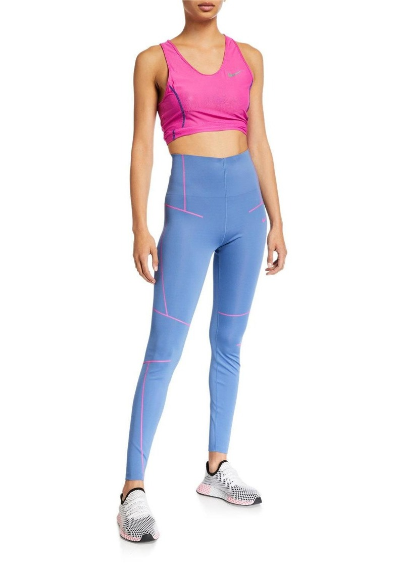Nike High-Rise Zigzag Ankle Tights