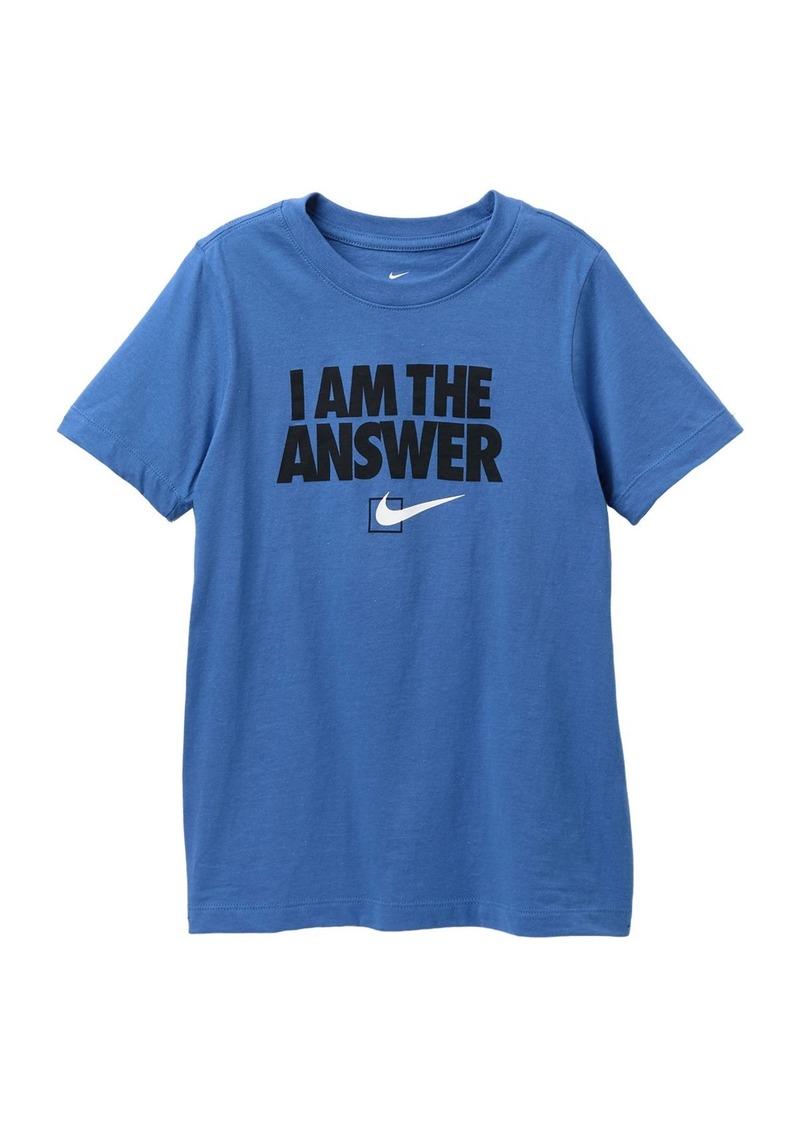 Nike I Am The Answer T-Shirt (Big Boys)