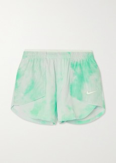 Nike Icon Clash Tempo Luxe Mesh-paneled Tie-dyed Dri-fit Shorts