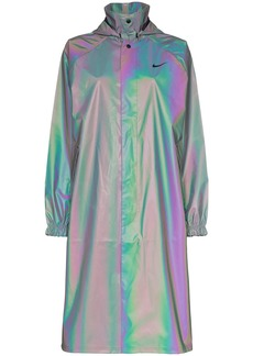 Nike iridescent raincoat