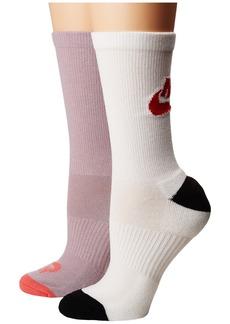 Nike Just Do It 2-Pair Pack Crew Socks
