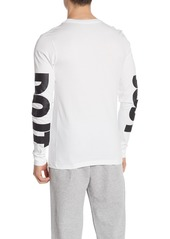 Nike Just Do It Brand Logo Long Sleeve Tee