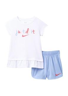 Nike Just Do It Tee & Shorts Set (Toddler Girls)