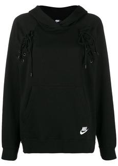 Nike lace-up hoodie