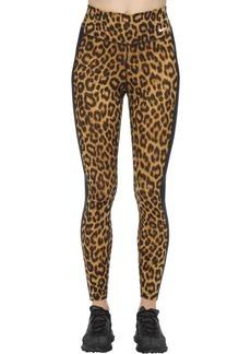 Nike Leopard Print Mid Rise Tight Leggings