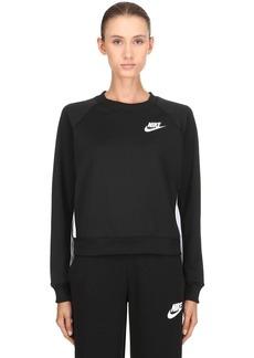 Nike Logo Cropped Crewneck Sweatshirt