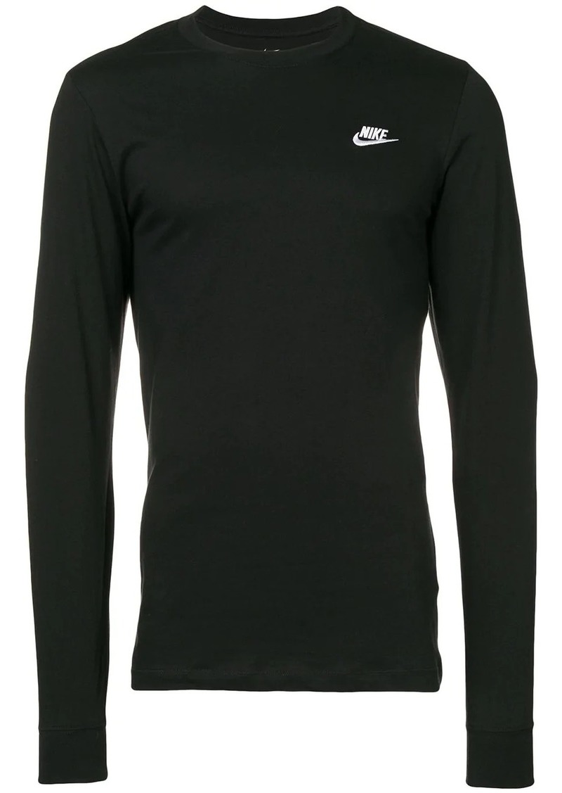Nike logo embroidered T-shirt