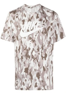 Nike logo-print camouflage t-shirt