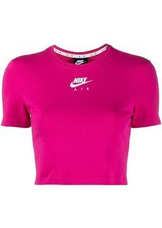 Nike logo-print cropped t-shirt