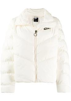 Nike logo print puffer jacket