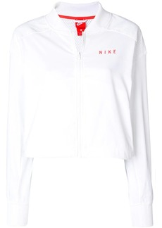 Nike logo printed mesh panel cropped jacket