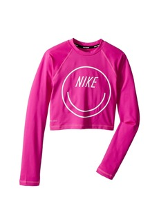 Nike Long Sleeve Crop Hydroguard (Big Kids)