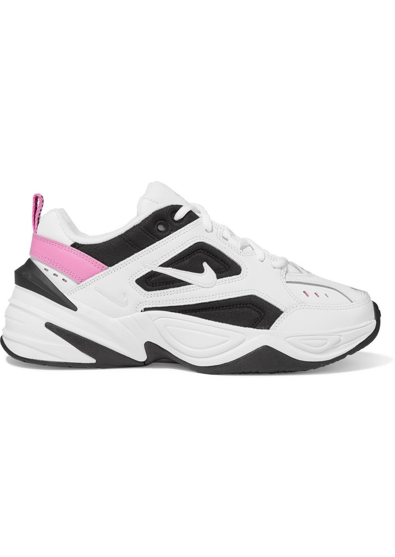 Nike M2k Tekno Leather And Mesh Sneakers