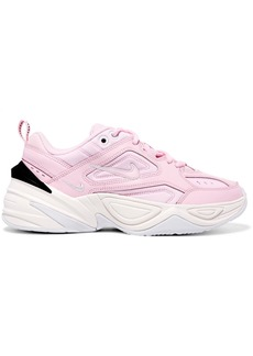 Nike M2k Tekno Leather And Neoprene Sneakers