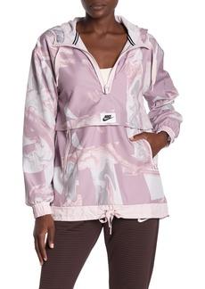 Nike Marble Print Hooded Tech Jacket