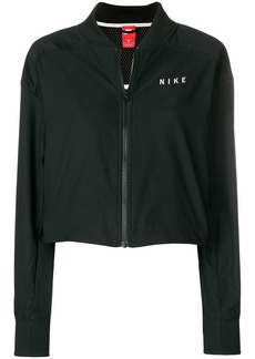 Nike mesh printed logo stripe sleeve T-shirt