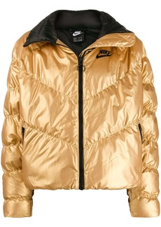 Nike metallic puffer jacket