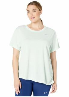 Nike Miler Top Short Sleeve Cinch (Size 1X-3X)