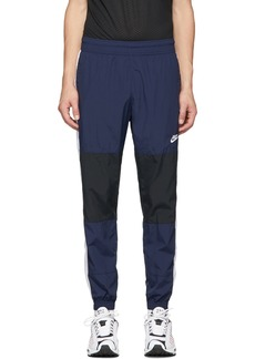 Nike Navy & Black Re-Issue Woven Track Pants