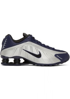 Nike Navy & Silver Shox R4 Sneakers