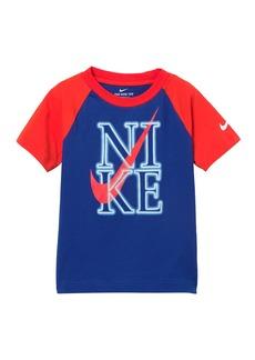 Nike Neon Short Sleeve Raglan T-Shirt (Little Boys)