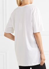 Nike + Riccardo Tisci oversized printed cotton-jersey T-shirt