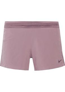 Nike Aeroswift mesh-trimmed stretch shorts