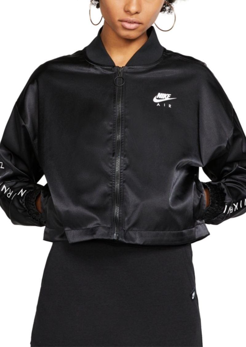 Nike Women's Air Cropped Satin Track Jacket