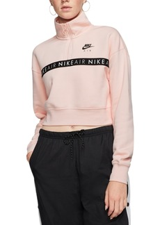 Nike Women's Air Fleece Half-Zip Cropped Top