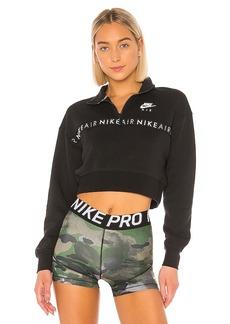 Nike Air Half Zip Crop Brush Back Pullover