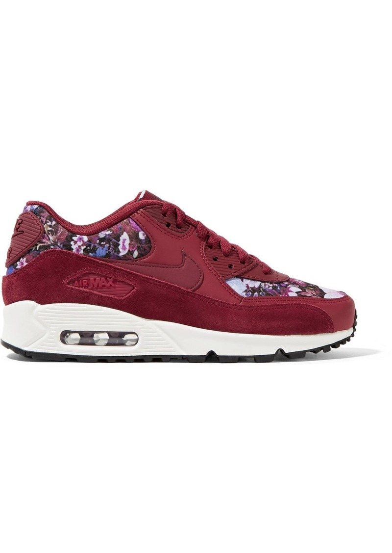 competitive price b72e4 7e059 Nike Air Max 90 SE floral-print canvas, leather and suede sneakers
