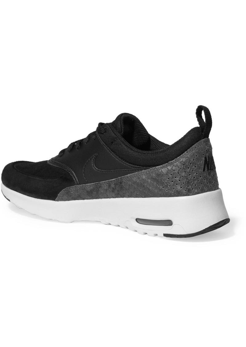 On Sale today! Nike Nike Air Max Thea suede, smooth and snake effect leather sneakers