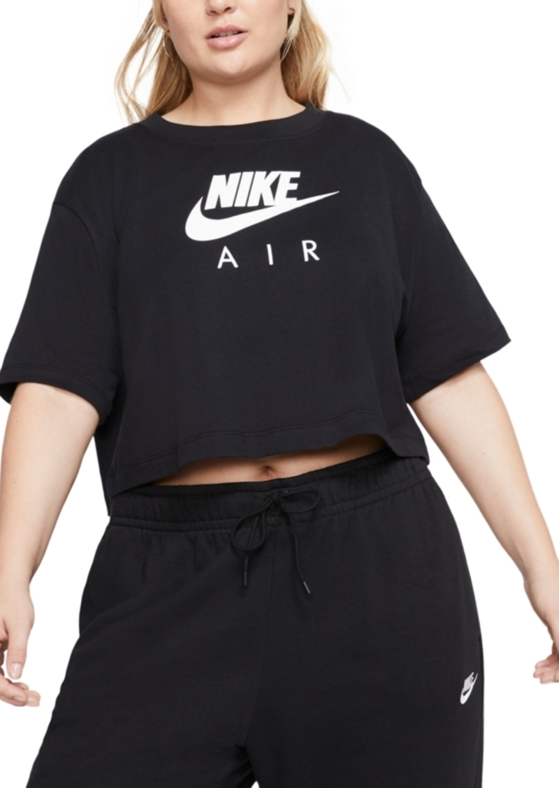 Nike Air Plus Size Short-Sleeve Crop Top