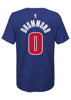 Nike Andre Drummond Detroit Pistons Icon Name & Number T-Shirt, Big Boys (8-20)