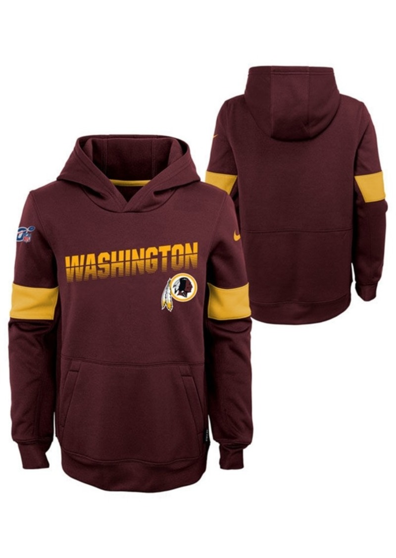 Nike Big Boys Washington Redskins Therma Hoodie