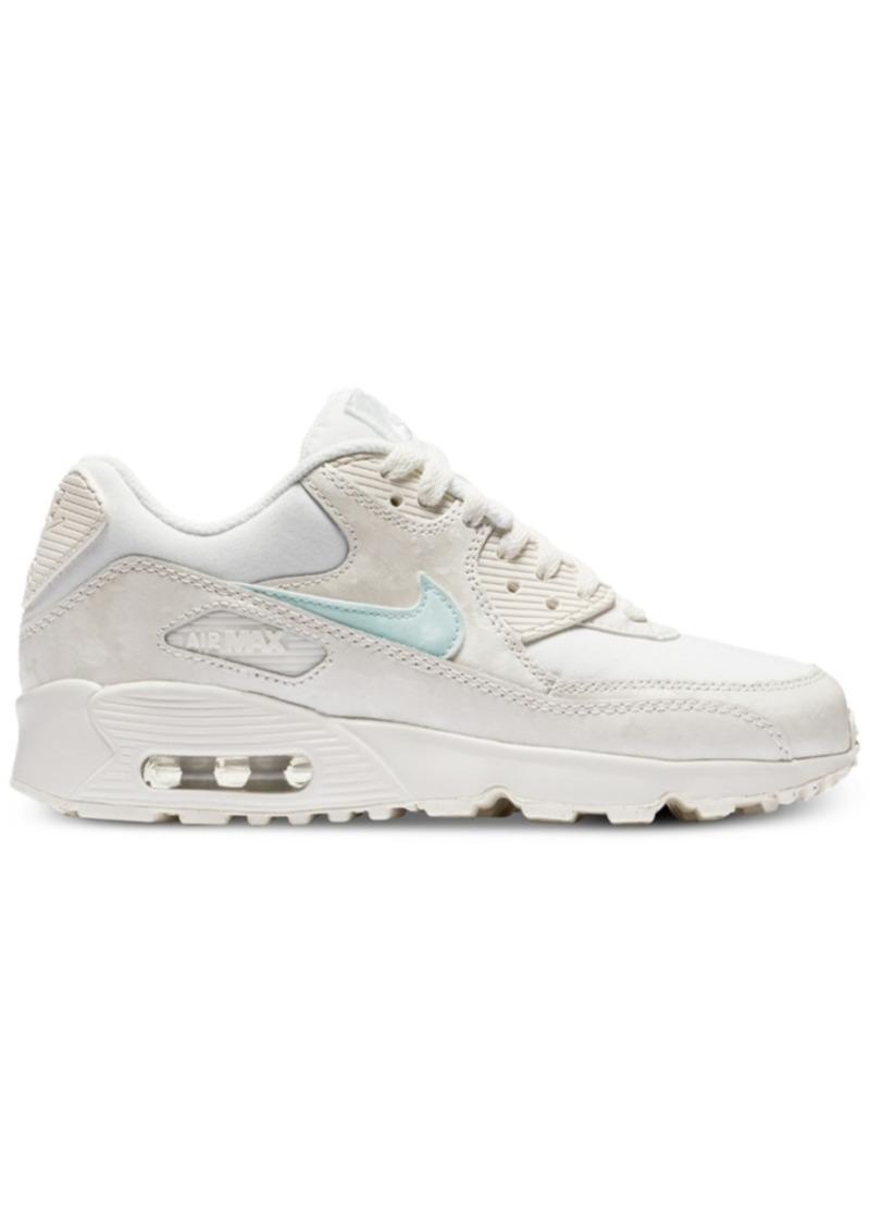 106991bf4d4e07 Nike Nike Big Girls  Air Max 90 Mesh Running Sneakers from Finish ...