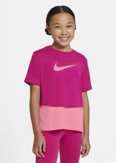 Nike Big Girls Dri-Fit Trophy Short-Sleeve Training Top
