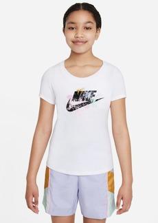 Nike Big Girls Sportswear Paint-Splotch T-Shirt